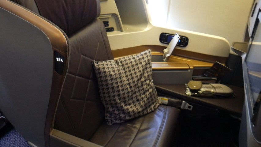 Singapore Airlines B777-300 Business Class Seats
