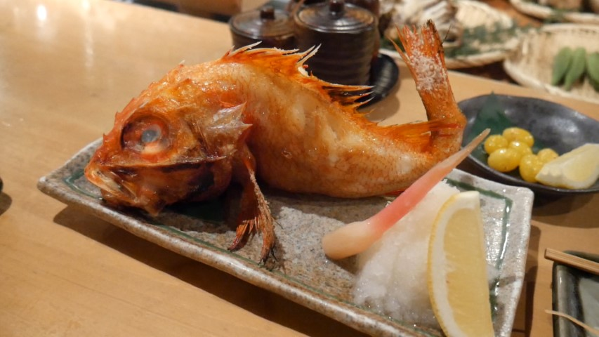 Whole fish at Roppongi Robotaya