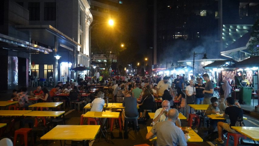 Boon Tat Street Singapore night markets