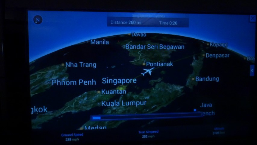 Flight map on Singapore Airlines SQ211