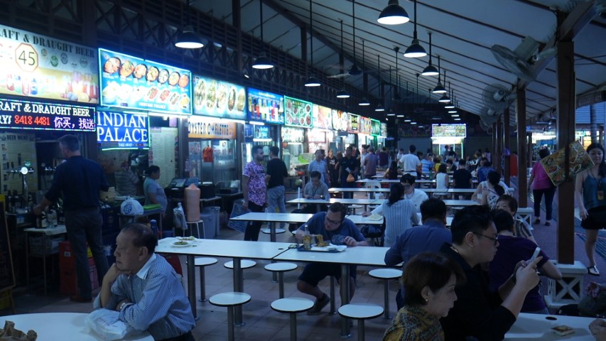 Food stalls at Newton Food Centre