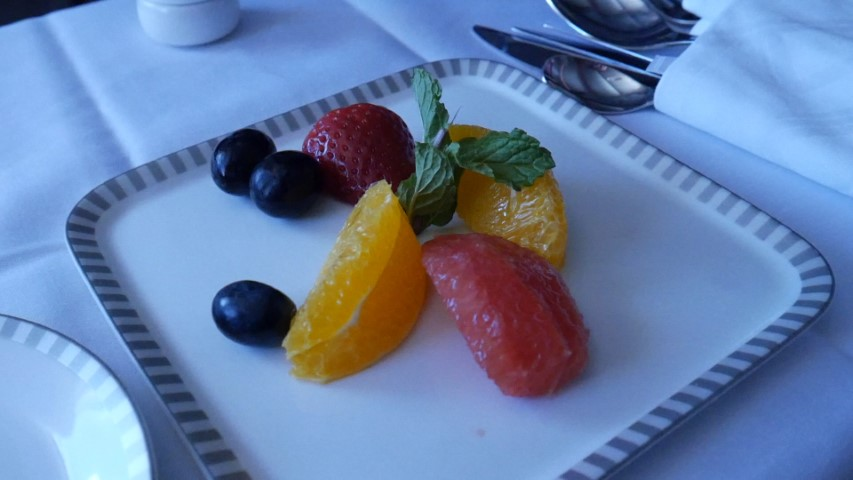 Fresh fruit starter on the brunch menu