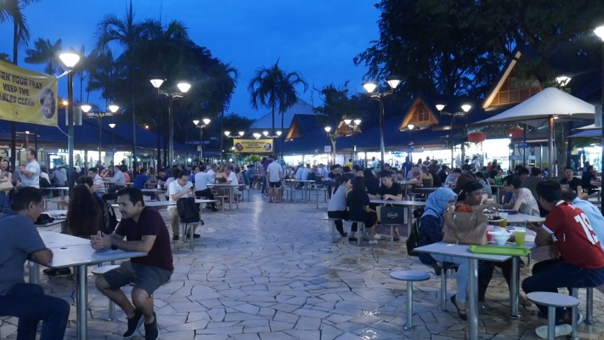 Open air dining at Newton Food Centre