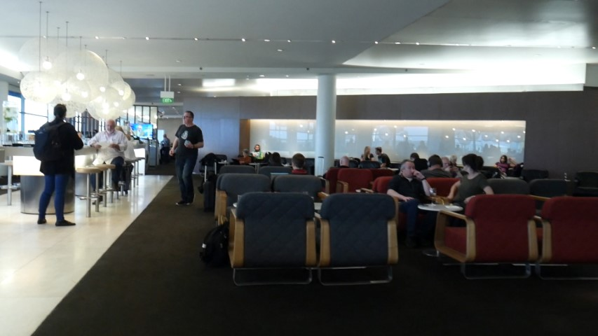 Qantas Business Lounge at Sydney International Airport