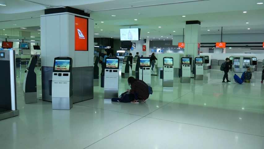 Qantas Fully Automated Check-in at Sydney Airport