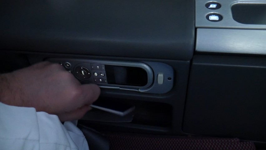 Small storage compartment in the seat