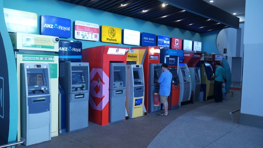 ATM Cash machines at Phnom Penh airport