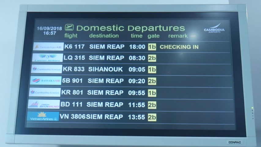 Domestic Destinations from Phnom Penh Airport