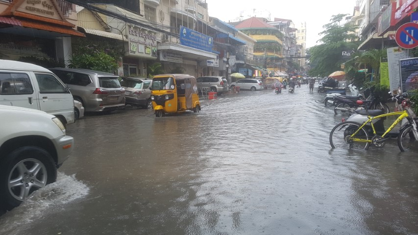 Flooded Streets in Phnom Penh