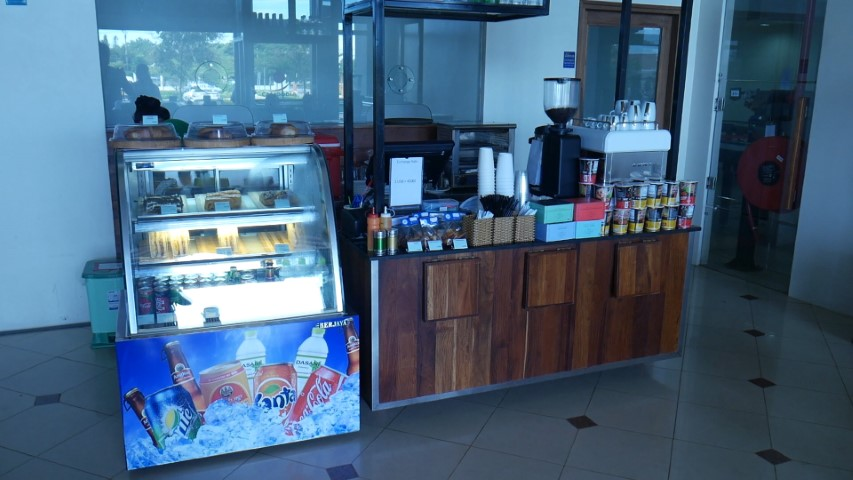 Small coffeeshop at Siem Reap Domestic Terminal