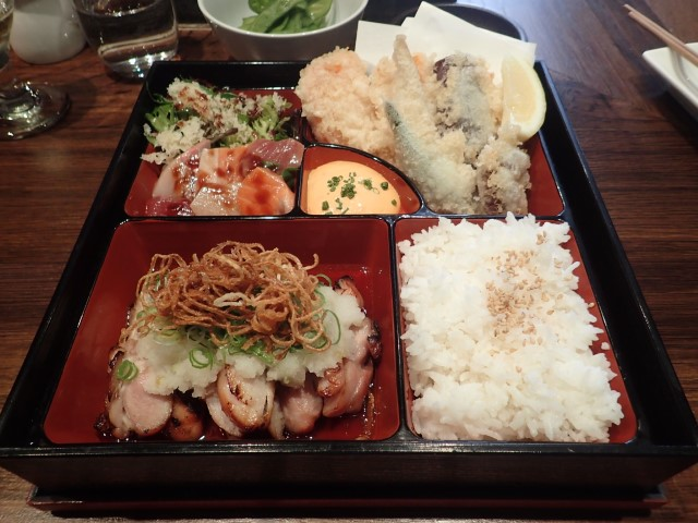 Lunchtime Bento Box at Sake Restaurant The Rocks Sydney