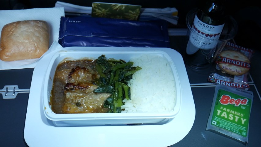 Economy Food on Qantas QF9 Melbourne to Perth
