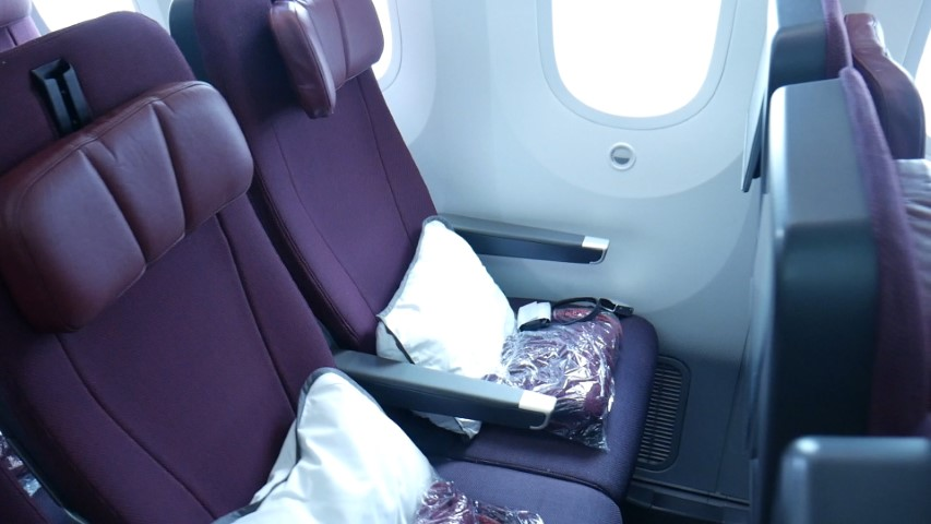 Economy Seats on Qantas B787-9 Dreamliner