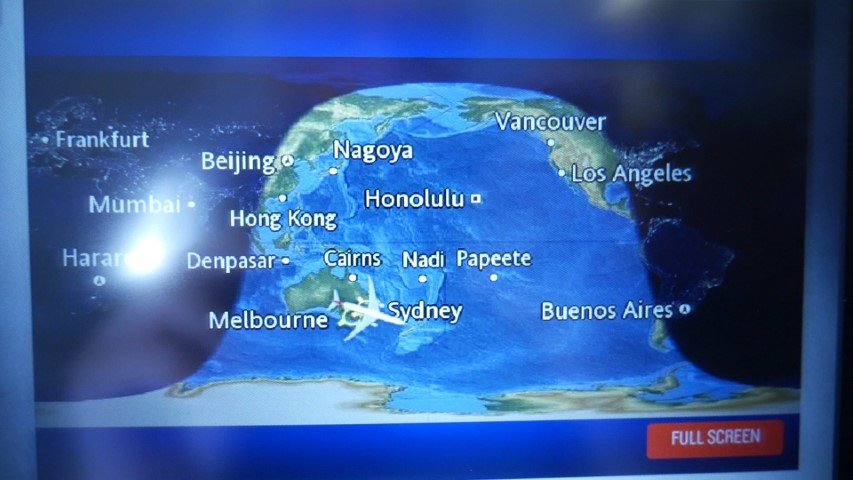 Flight Map on Economy Entertainment System