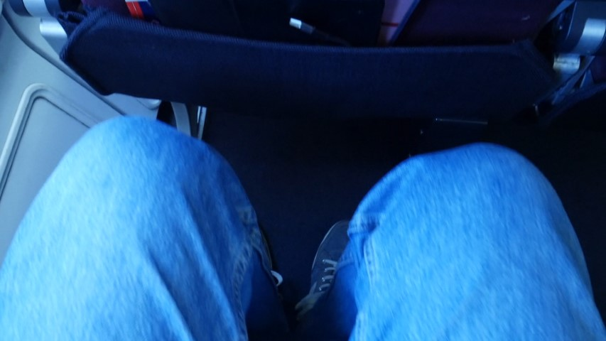 Good legroom on Qantas A330-200 Economy Class