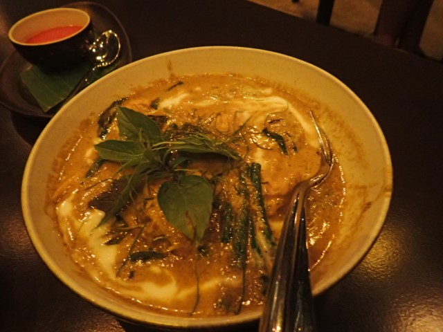 Green curry at Som Chai Restaurant Seminyak