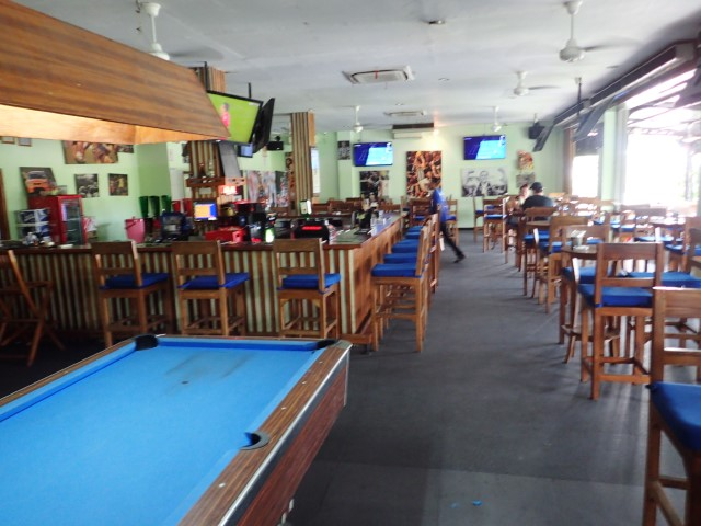 Inside Adrenaline Sports Bar Seminyak