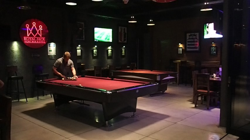 Inside Royal Jacks Sports Bar Kuta