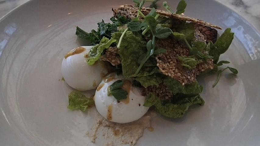 Poached Eggs with Kal at Sisterfields Cafe Seminyak