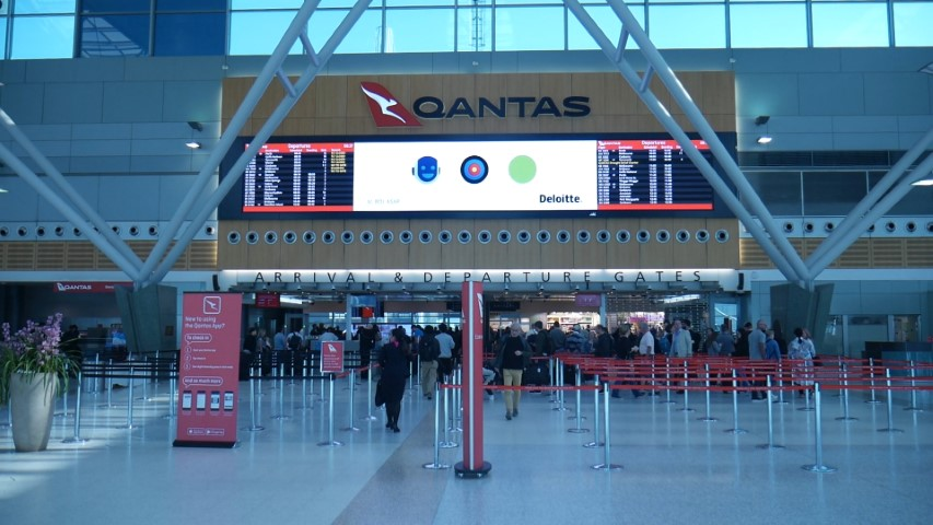 Qantas Terminal 3 at Sydney Airport