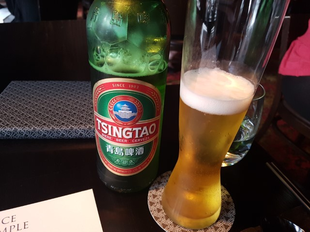 Tsing Tao Beer at Spice Temple Melbourne
