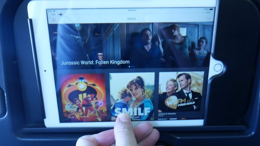 iPad Entertainment Screen on Qantas A330-200