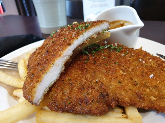 Chicken Schnitzel at Dundee Arms