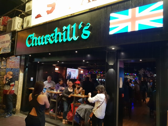 Churchill's Pub in Wan Chai Hong Kong