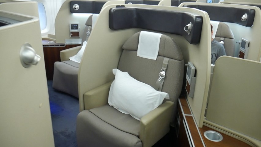 First Class seat on Qantas A380