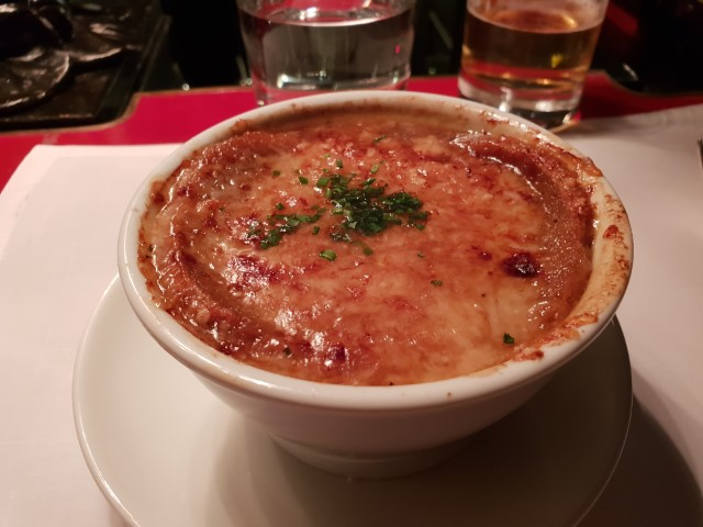 French Onion Soup at Grand Hyatt Steakhouse