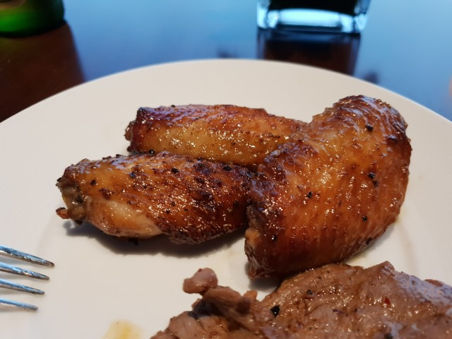 Grilled Chicken wings at the Club Lounge Grand Hyatt Macau