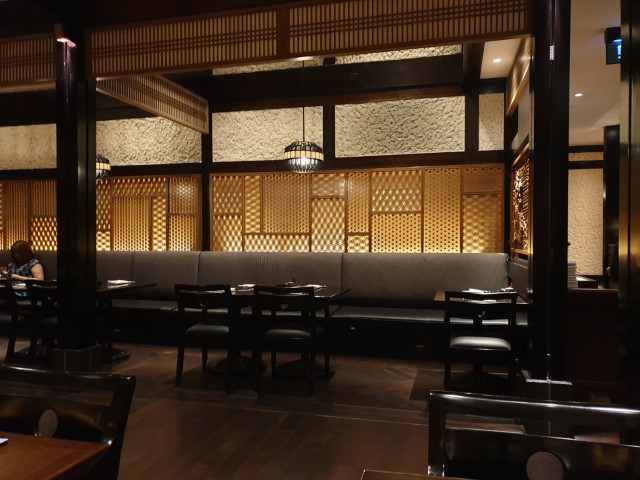 Main dining area of Sumire Japanese Restaurant Jakarta