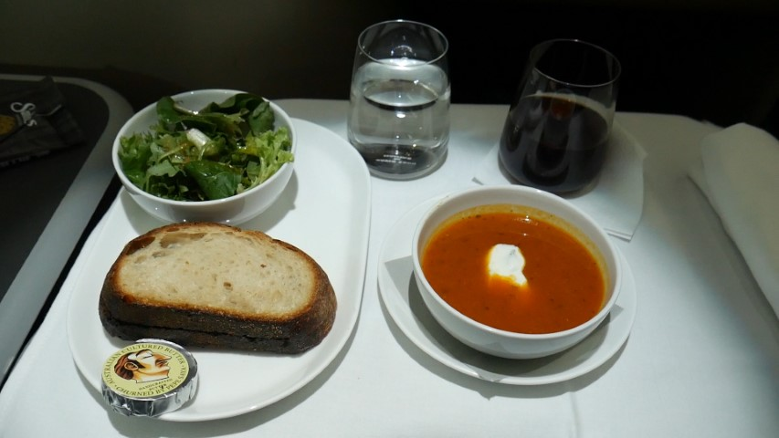 Meal starter in Qantas Business Class