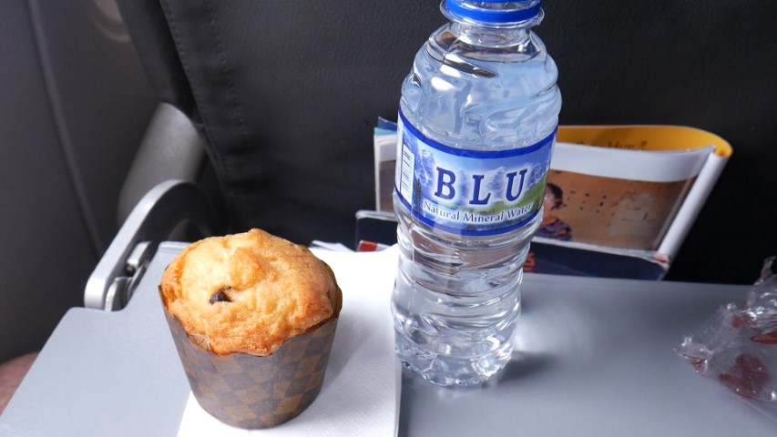 Muffin with water meal combo on Jetstar Asia