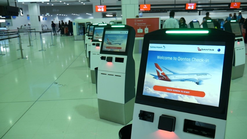Qantas Automated Check-in Kiosks