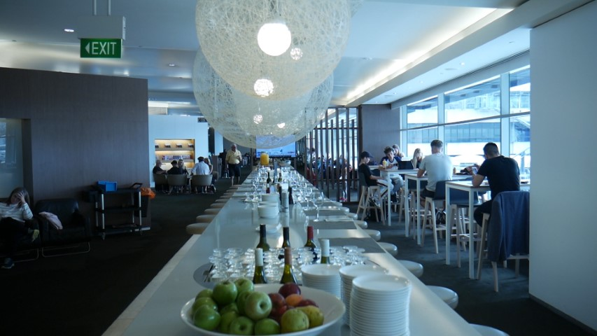 Qantas Business Class Lounge at Sydney Airport