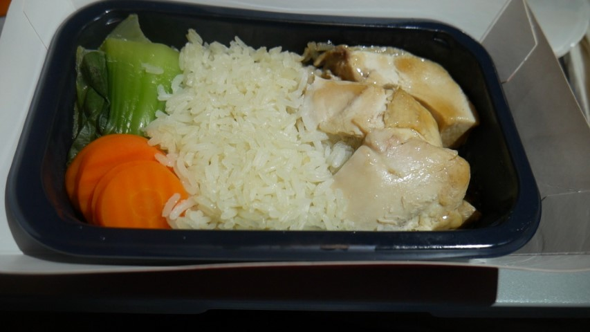 Singapore Chicken Rice on Jetstar Asia