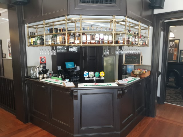The bar at Dundee Arms