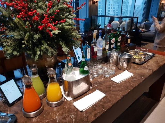 The evening drinks at the Club Lounge Grand Hyatt Macau