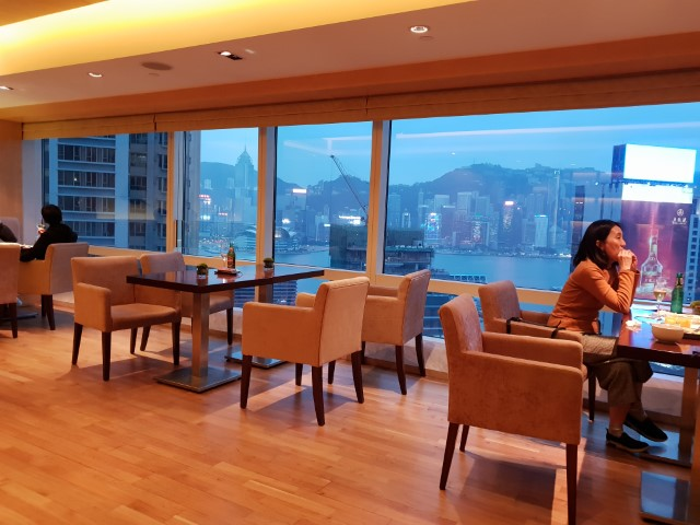 The view from Club Lounge at the Hyatt Regency Hong Kong