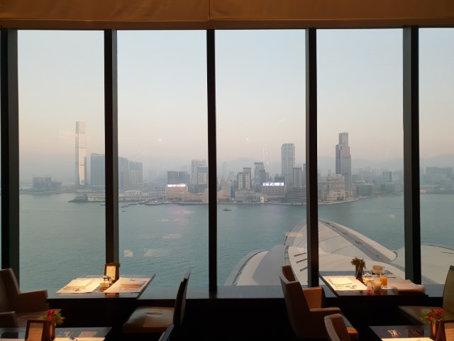 View from Grand Hyatt Hong Kong Club Lounge