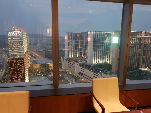 Views from the Grand Hyatt Macau Club Lounge