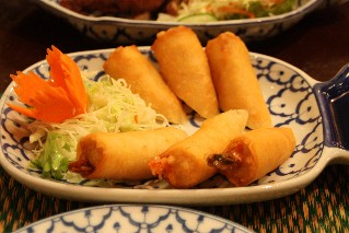 Spring rolls at Chao-Thai Restaurant Shibuya