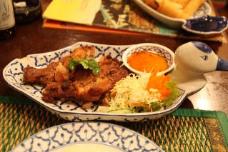 BBQ Chicken at Chao Thai Restaurant Shibuya
