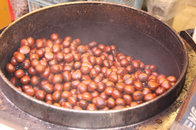 Roasted chestnuts in Yokohama Chinatown