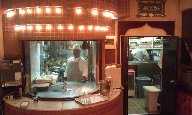 Open kitchen at Gandhi Indian Restaurant Tokyo