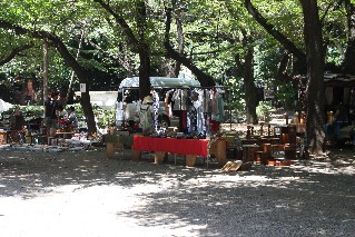 Weekend markets at Yasukuni Shrine