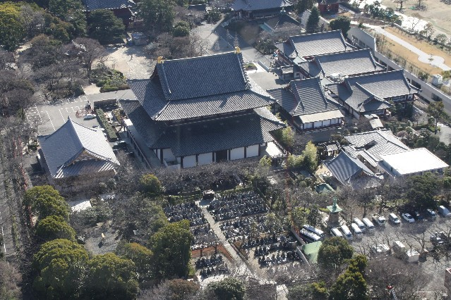 View of Zojoji Temple from Tokyo Tower