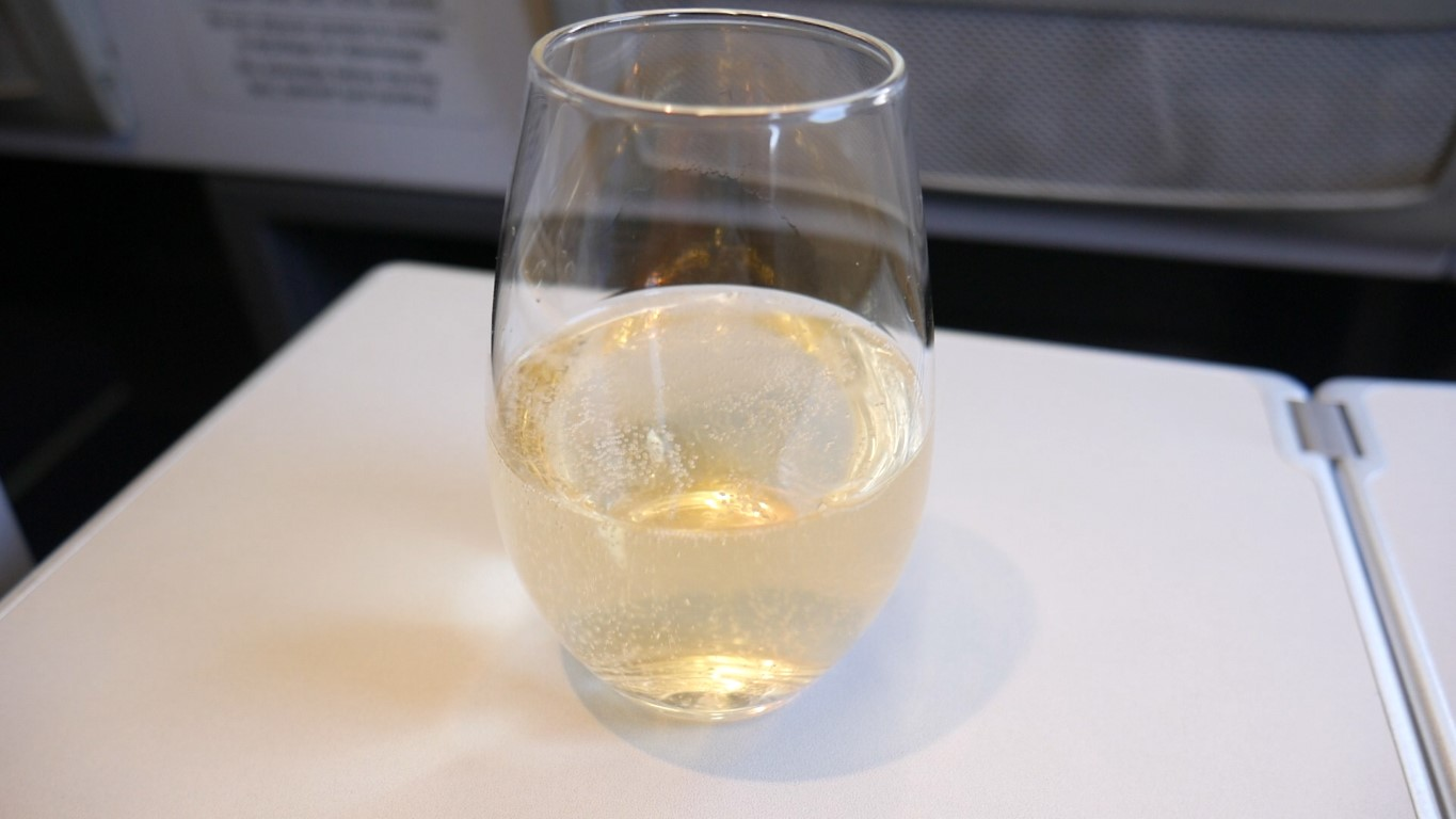 Aircalin Champagne before take-off