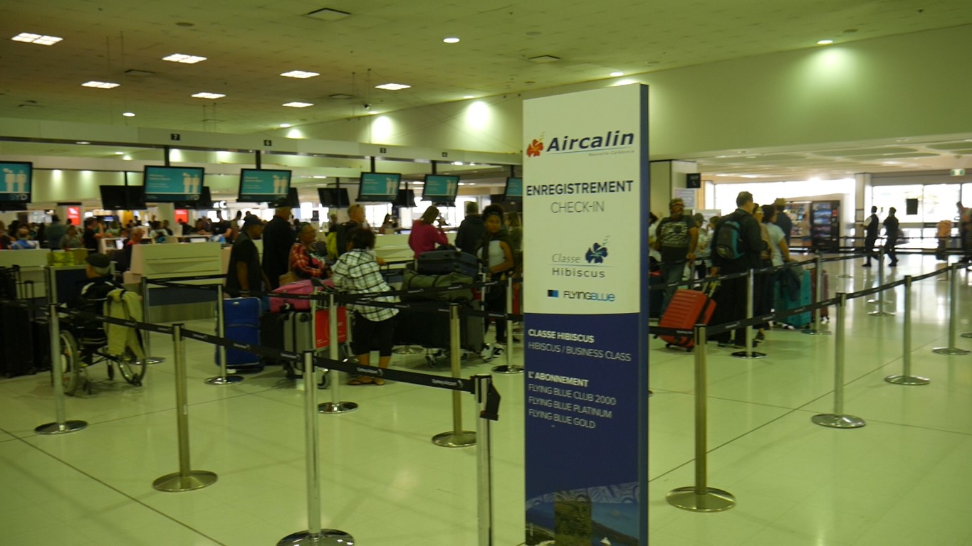 Aircalin Check-in desks at Sydney Airport